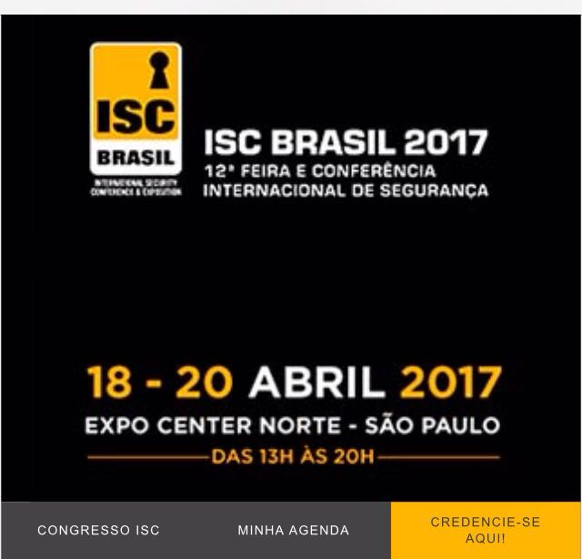Equipe CFTVCONSULT na ISC Brasil 2017