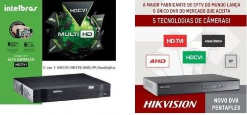 Comparativo Câmeras 4×1 Intelbras VHD 1010 e Hikvision DS-2CE16C0T-IRF