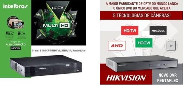Comparativo de DVR Hikvision DS7204-HGHI F1 x Intelbras MHDX 1004.