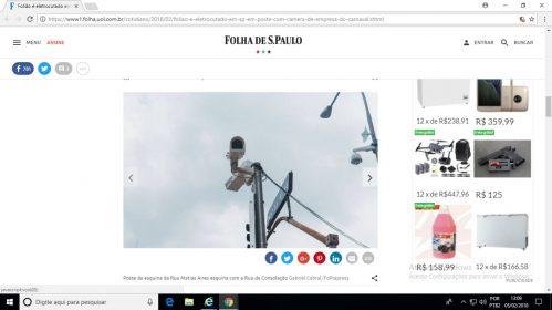 Folião éeletrocutado em SP em poste com câmera de empresa do Carnaval – 05/02/2018 – Cotidiano – Folha
